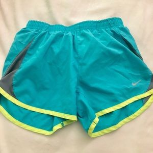 Teal Nike shorts